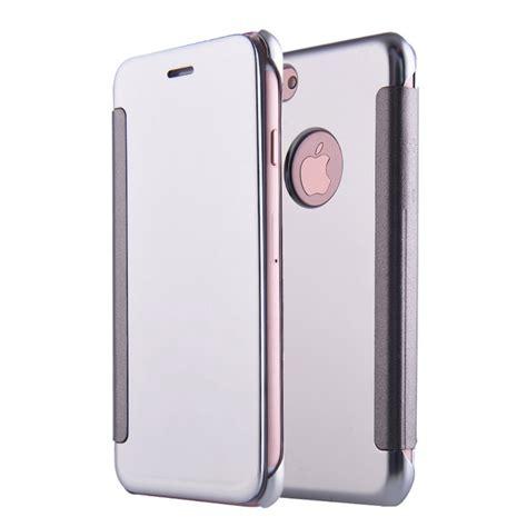 Iphone Mirror apple iphone 7 plus flip cover mirror silver