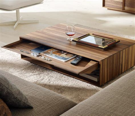 modern living room coffee tables la table basse avec tiroir un meuble pratique et d 233 co