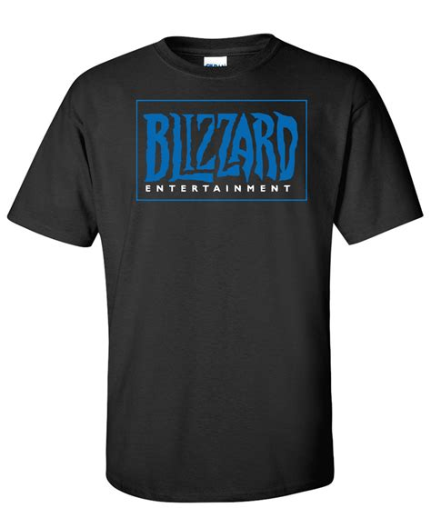 T Shirt Blizzard blizzard entertainment logo graphic t shirt supergraphictees