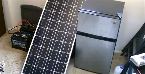 solar powered fridge freezer 30 watt grid