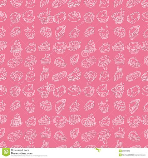 seamless pattern cake hand draw cake seamless pattern stock photo image 20374870
