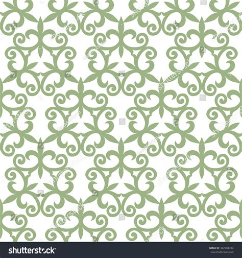 seamless pattern en francais seamless patterns kazakh asian floral pattern stock vector