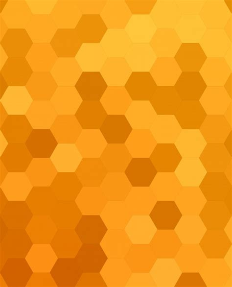 honey pattern vector orange abstract hexagonal honey comb background vector