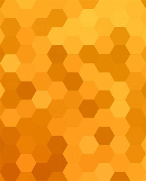honey color orange abstract hexagonal honey comb background vector
