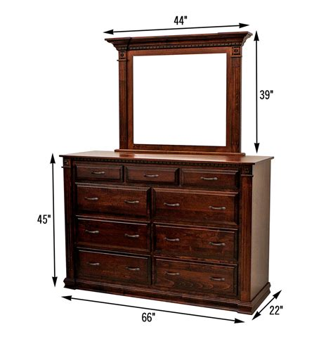 bedroom dresser dimensions heirloom high dresser mirror craft furniture