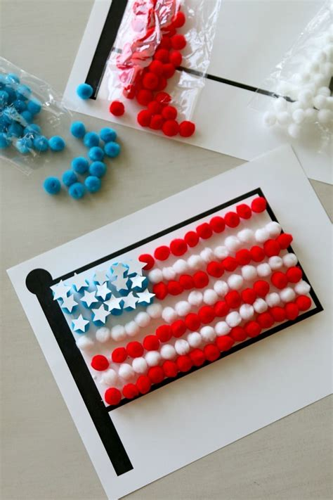flag craft for free flag printable for pom pom craft