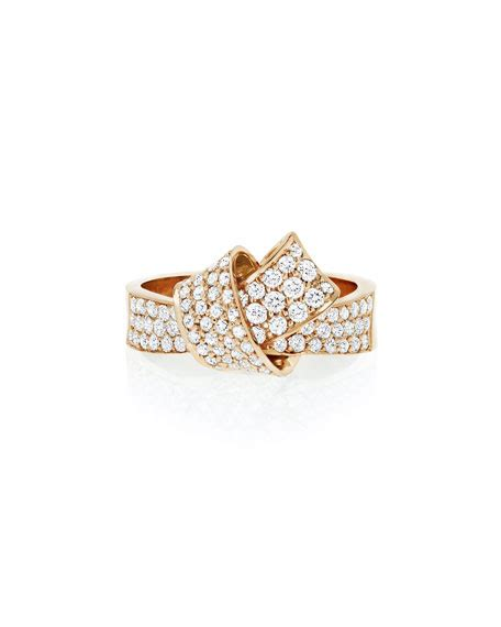 Hello Pave Ring From Neiman by Carelle 18k Gold Pav 233 Knot Ring Size 7