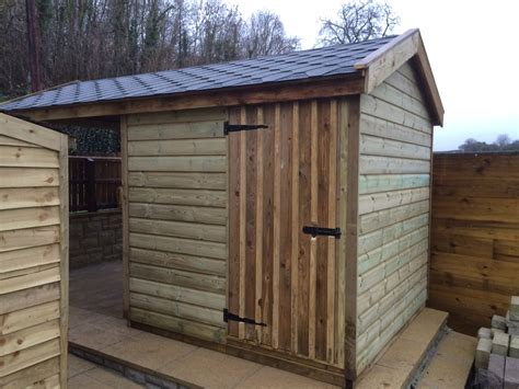 Shed With Wood Store by Log Stores The Wooden Workshop Oakford