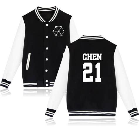 Jaket Varsity K Pop Exo exo varsity jacket 24 models