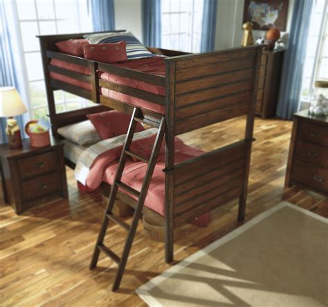 ashley furniture loft bed signature design by ashley ladiville rustic twin twin bunk
