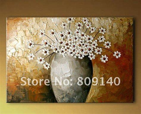 high resolution printable wall art abstract white flower decoration oil painting canvas high