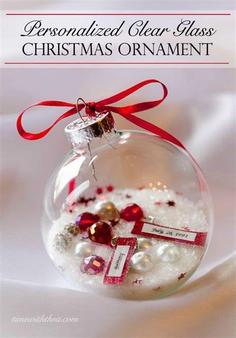 personalized clear glass christmas ornament gift glass