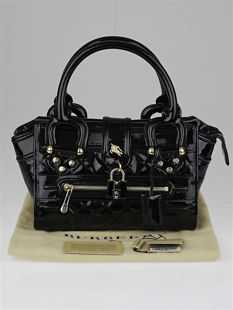 Burberry Patent Manor Bag by Burberry Black Quilted Patent Leather Mini Manor Bag