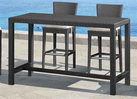 Bar Height Bistro Table Outdoor Bar Height Rectangular Patio Table Patio Furniture Outdoor Dining And Seating