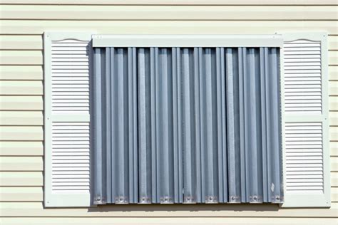 steel shutters for windows how to install metal hurricane shutters