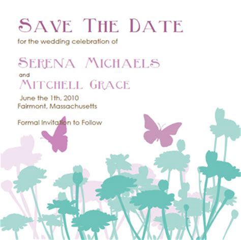 butterfly invitation cards templates butterfly wedding invitations lavendar and turquoise