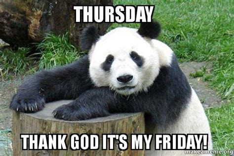 Memes De Pandas - thursday thank god it s my friday confession panda