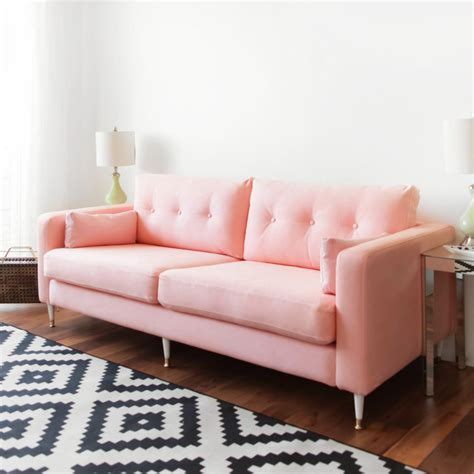ikea hack couch ikea hack karlstad pink mid century inspired sofa