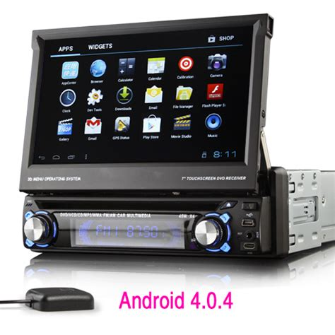 android car stereo din 7 quot android 1 din car dvd player 3g wifi gps navigation free map bluetooth view angle adjustable