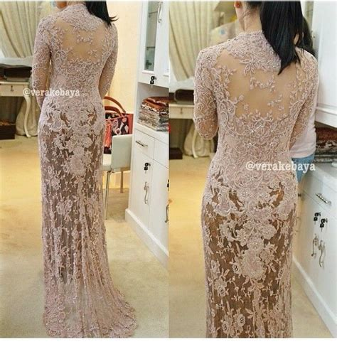 Dress Brokat Import 5 the back side and lovable vera anggraini kebaya