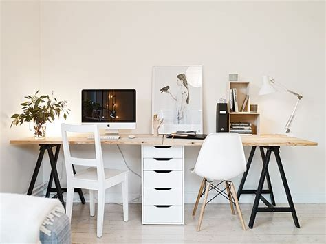 Home Office Desks For Two 17 Best Ideas About Two Person Desk On 2 Person Desk Home Office Desks Ideas And