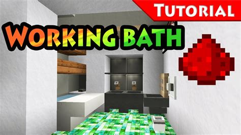 minecraft bathroom tutorial too small place for bathroom solution working bathtub