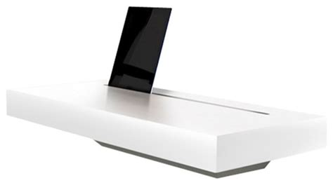 stage interactive wall shelf works as a charging station spell stage interactive shelf white gloss charging
