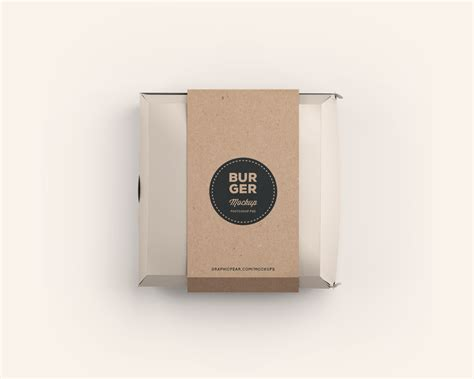 package design mockup burger box package mockup