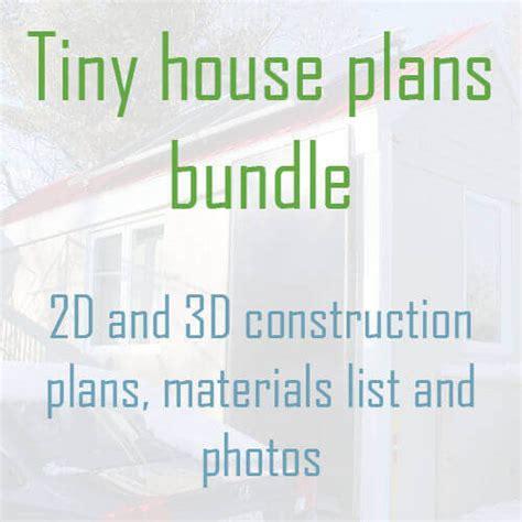 Small House Plans Material List Tiny House Plans Bundle 2d And 3d Construction Plans
