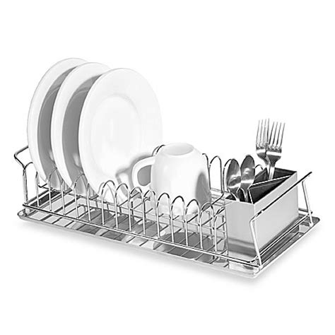 bed bath and beyond dish rack oggi compact 3 piece dish rack and cutlery holder bed