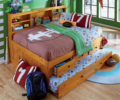 full size kids bed colorful kids boys room design present light wood full