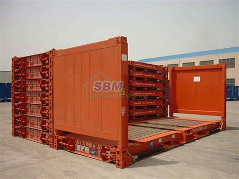 Open Rack Container by Sea Freight Container Open Side Open Top Bulk Platform