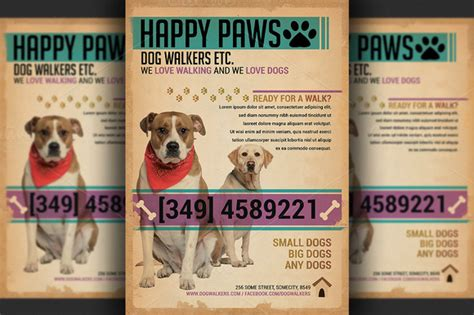 pet flyer templates free walkers flyer template flyer templates on creative