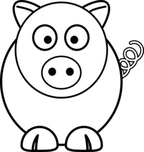 pig clipart black and white pig black and white clip at clker vector