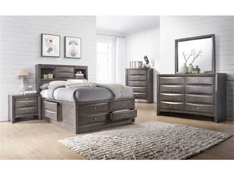 olivia full storage bed grey emily grey storage bed home source warehouse