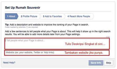 membuat nama facebook singkat tips membuat facebook page putra jimbarwana