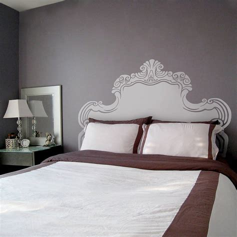 wall headboards for beds vintage bed headboard wall sticker by oakdene designs