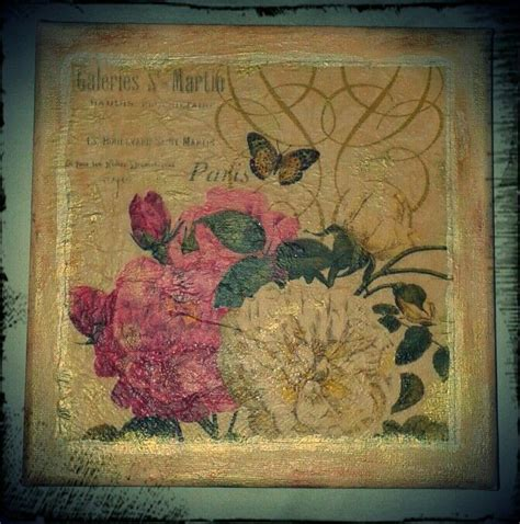 Decoupage On Canvas - decoupage canvas paintings mixed media