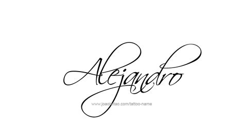 alejandro name tattoo designs