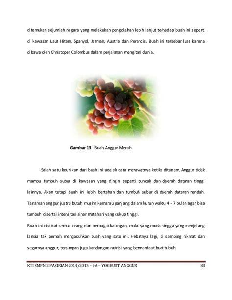 Anggur Laut isi pembuatan yoghurt anggur