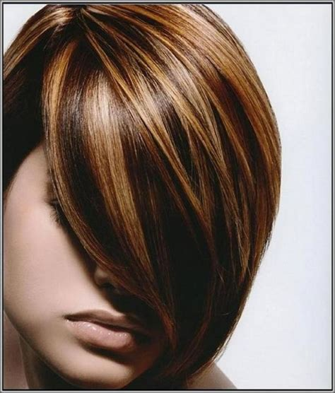 high and low highlights on short hair dark brown lowlights and highlight hair color with side