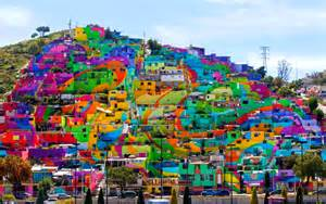 Colorfu Houses Painting pachuca paints itself a barrio neighborhood becomes
