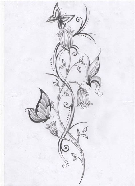 small flower vine tattoos vine tattoos flower vine and butterflies by ashtonbkeje