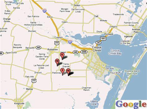 map of corpus christi texas corpus christi map toursmaps