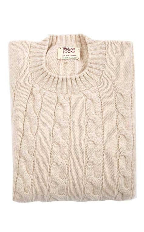 scottish cable knit sweaters colour linen
