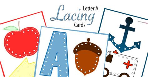 printable lacing card templates letter a lacing cards free printable