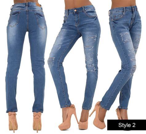 Ripped Jegging Ripped Jegging Ripped ripped womens high waist jegging plus size 8 22 ebay