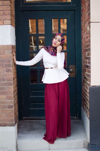 Tuxkpi Atasan Hitam Atasan Putih Baju Merah Baju Lengan Panjang Casual 12 contoh model baju muslimah terbaru hari raya idul fitri