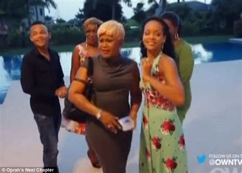 rihanna and her mom rihanna tricks her mother monica as she surprises her with