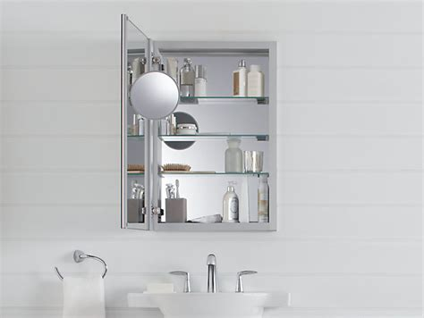 kohler medicine cabinet replacement mirror k 99003 verdera medicine cabinet with magnifying mirror